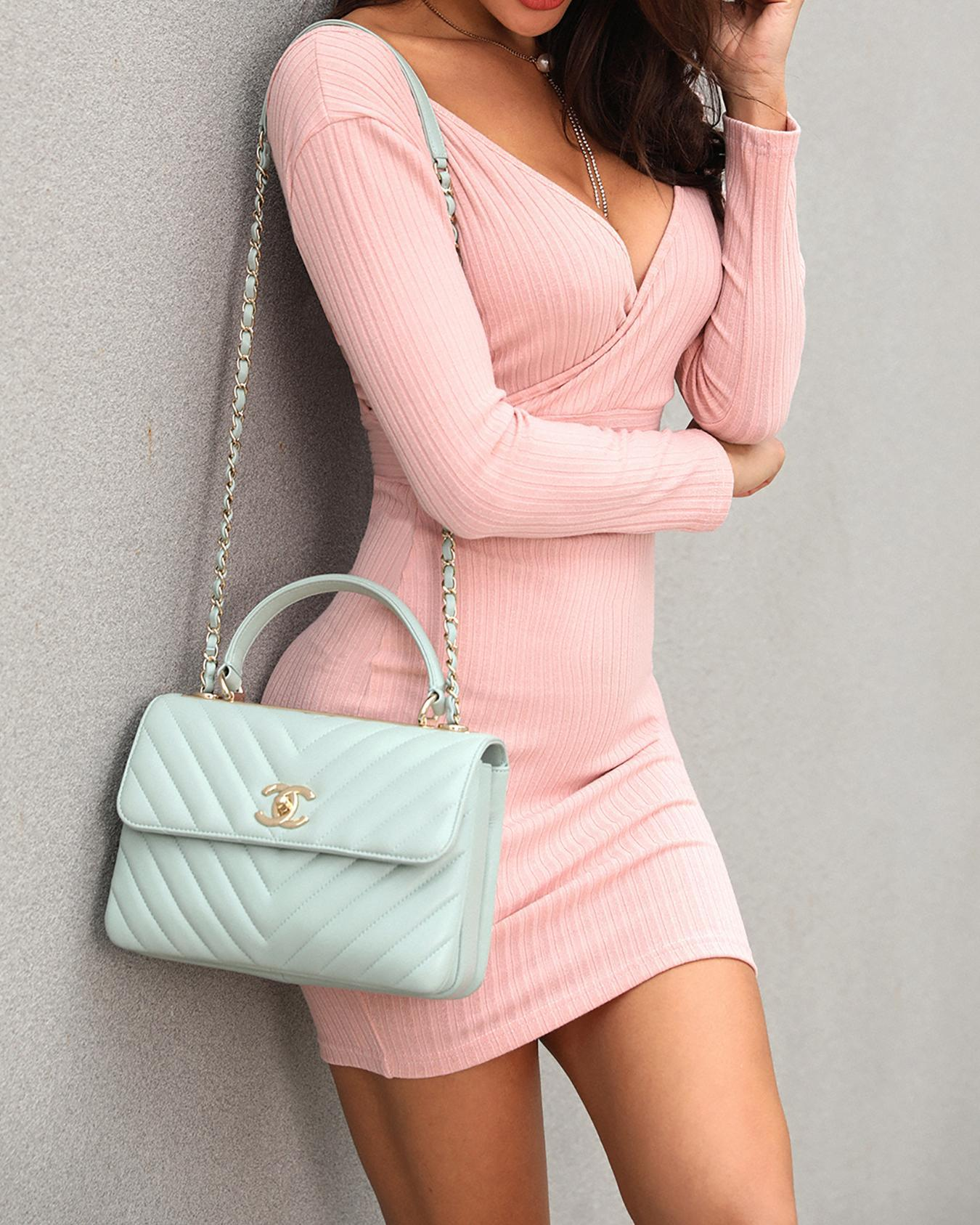 Double V Wrapped Bodycon Dress