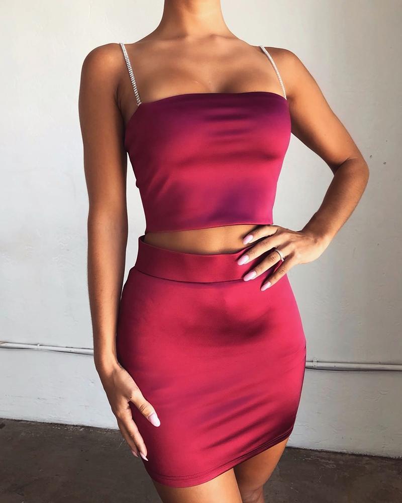 boutiquefeel / Vestido de duas peças com alça de corrente