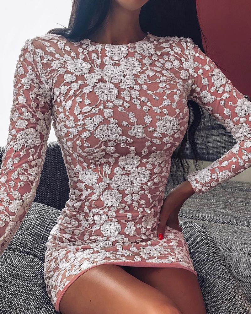 boutiquefeel / Mini vestido ajustado bordado