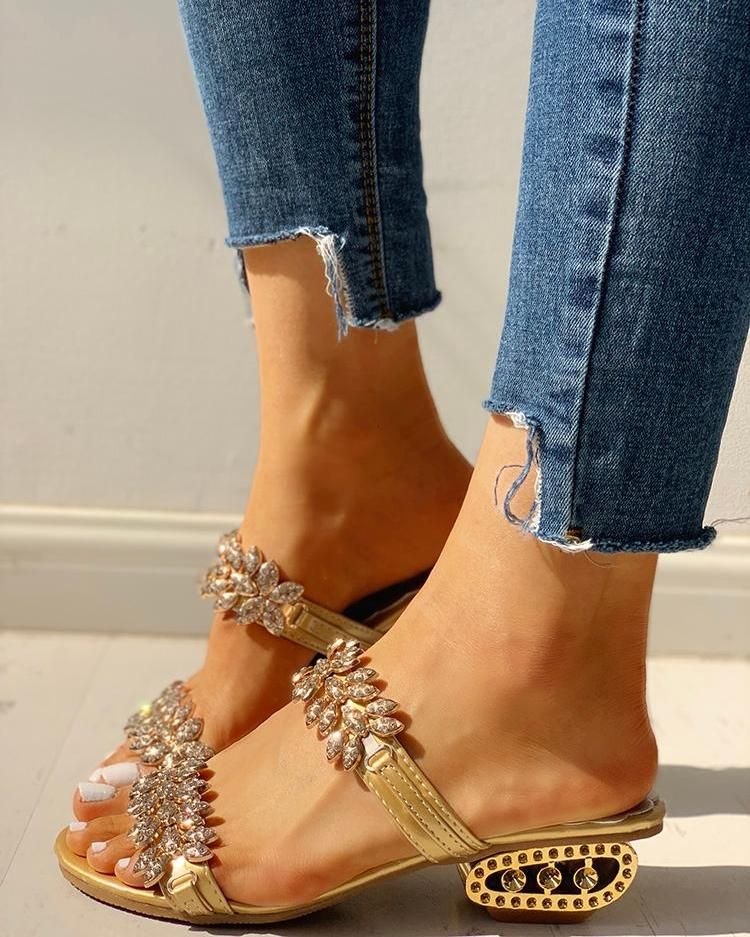 Studded Double Buckle Sandals фото