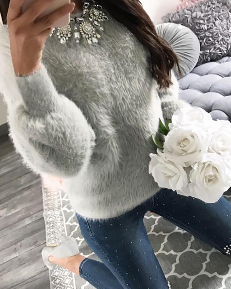chicme / Suéter de manga larga y suave