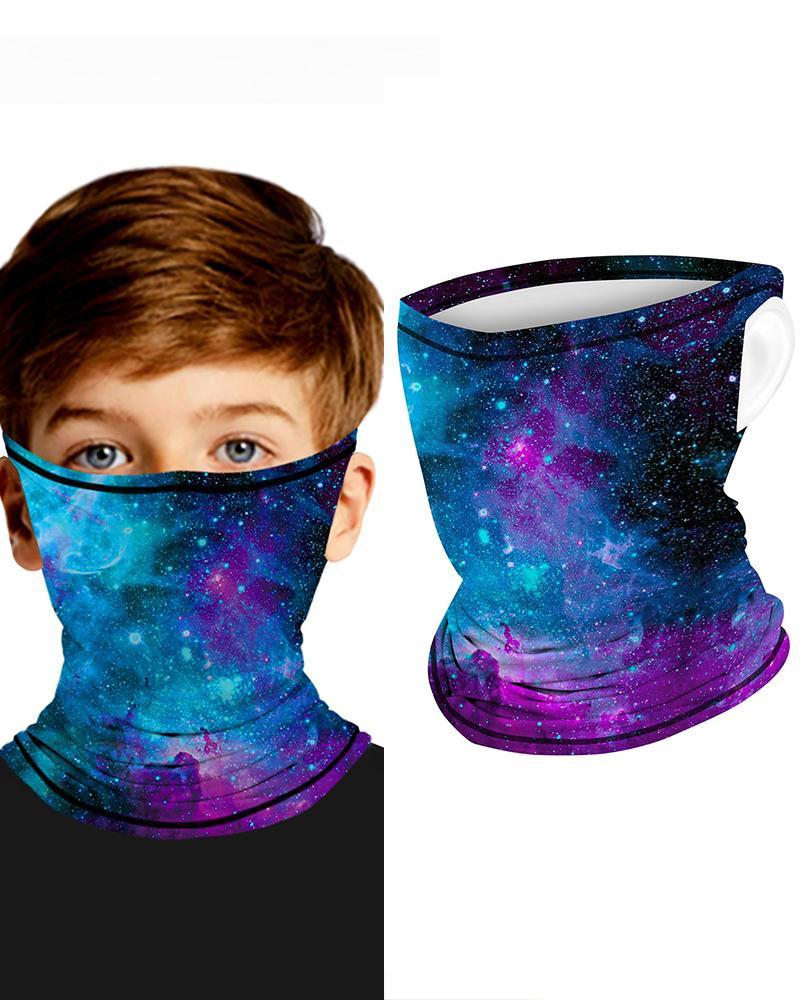 Galaxy Print Breathable Ear Loop FaceBandana Headwrap For Children фото