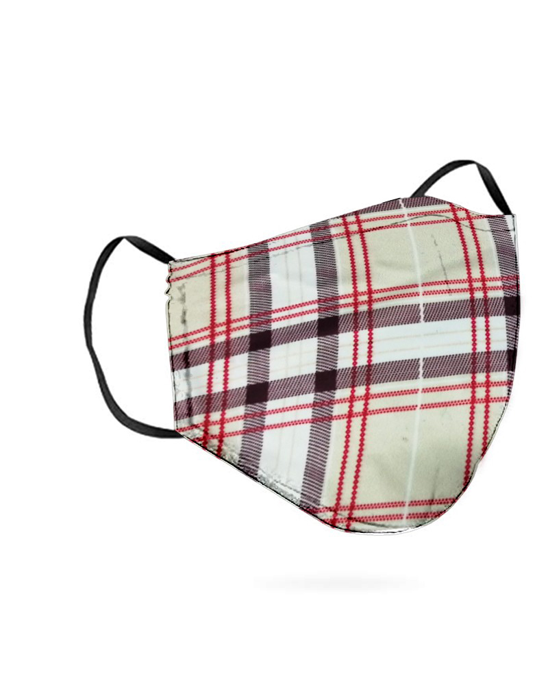 Grid Print Breathable Mouth Mask Washable And Reusable фото