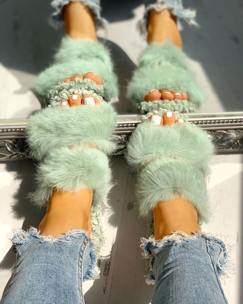 boutiquefeel / Sandalias planas casuales ahuecadas y esponjosas