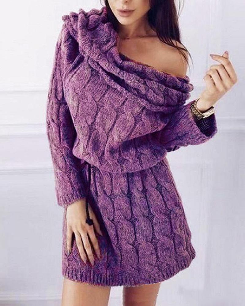 ivrose / High Neck Mohair Sweater Dress