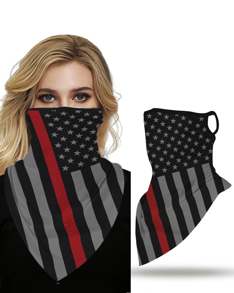 Купить со скидкой Flag Print Breathable Face Cover Windproof Motorcycling Dust Outdoors