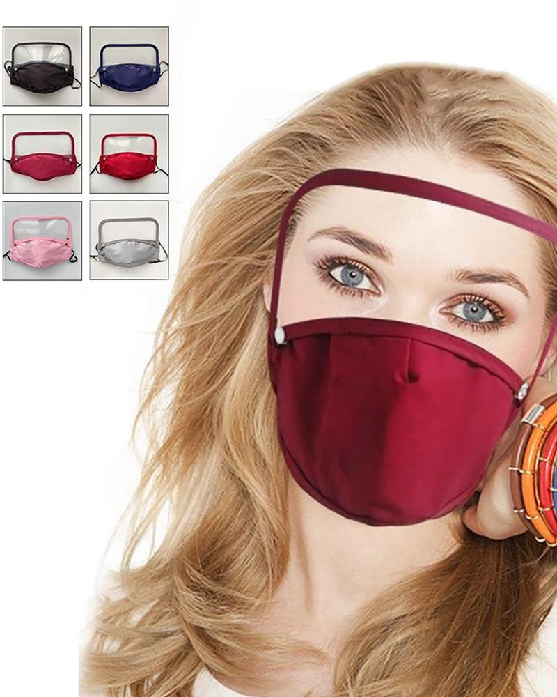 Detachable Face Mask With Eyes Shield фото