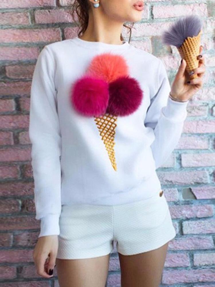 Ice Cream Pom Poms Sweatshirt