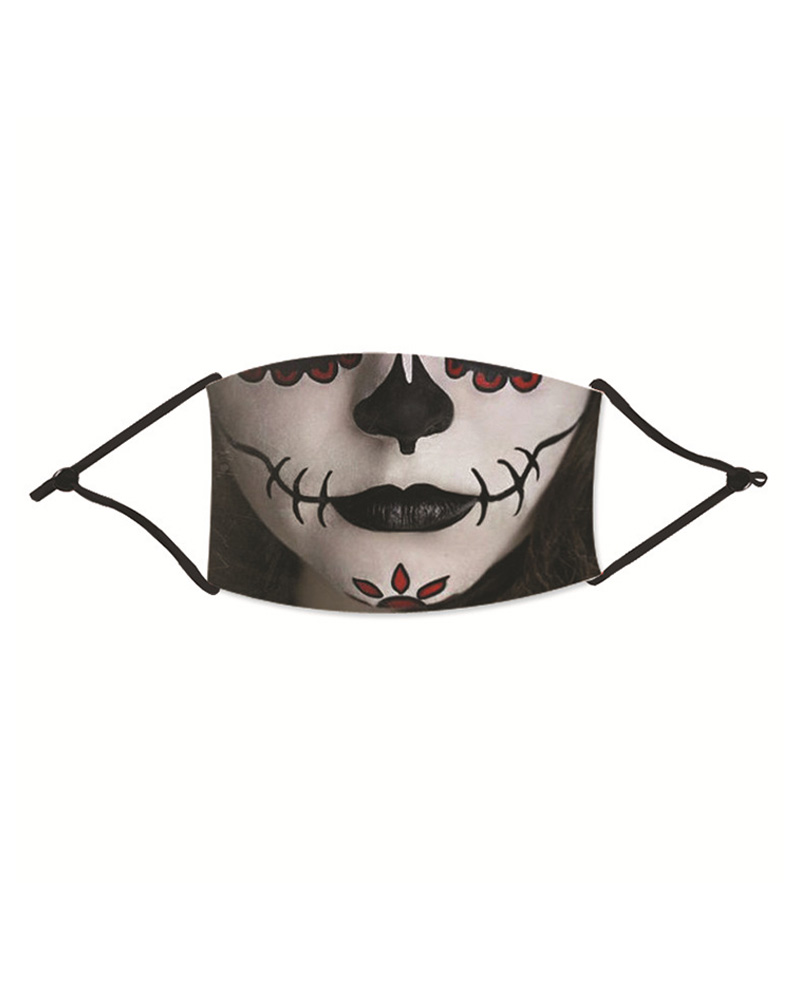 Halloween Ghost Print Washable Reusable Cotton Face Mask фото
