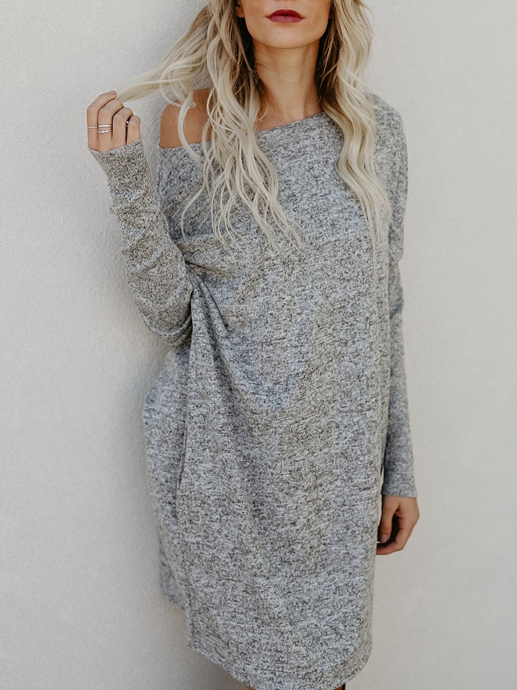 Fashion Solid Casual Casual Dress