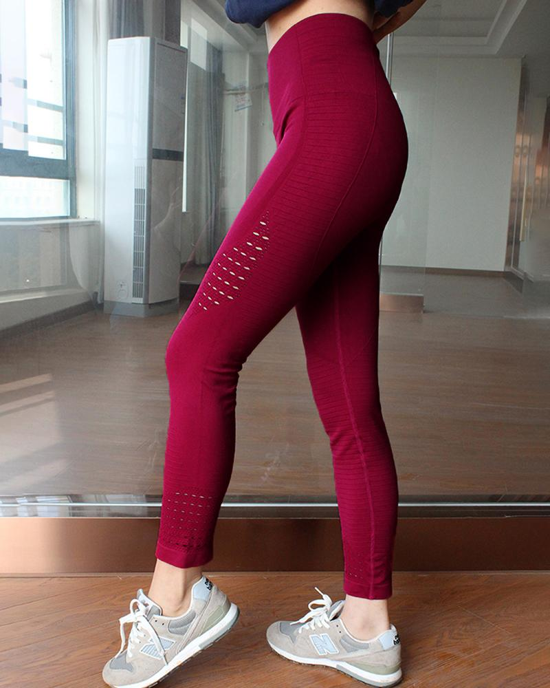 High Waist Solid Seamless Workout Gym Yoga Legging фото