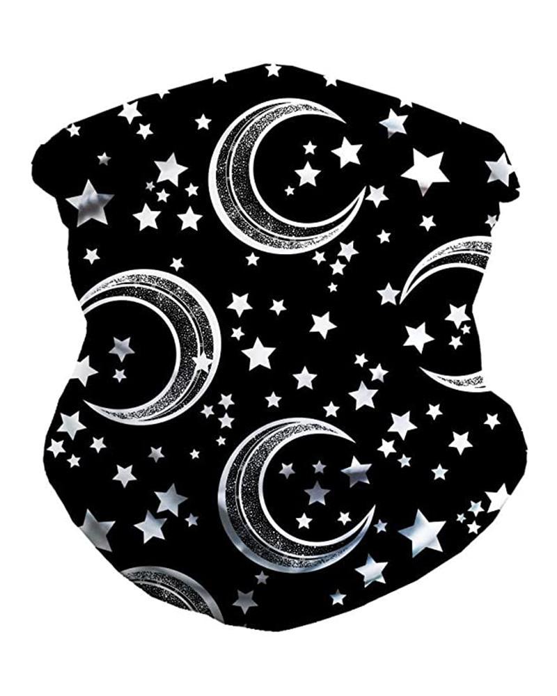 Astro & Moon Print Breathable FaceBandana Magic Scarf Headwrap Balaclava фото