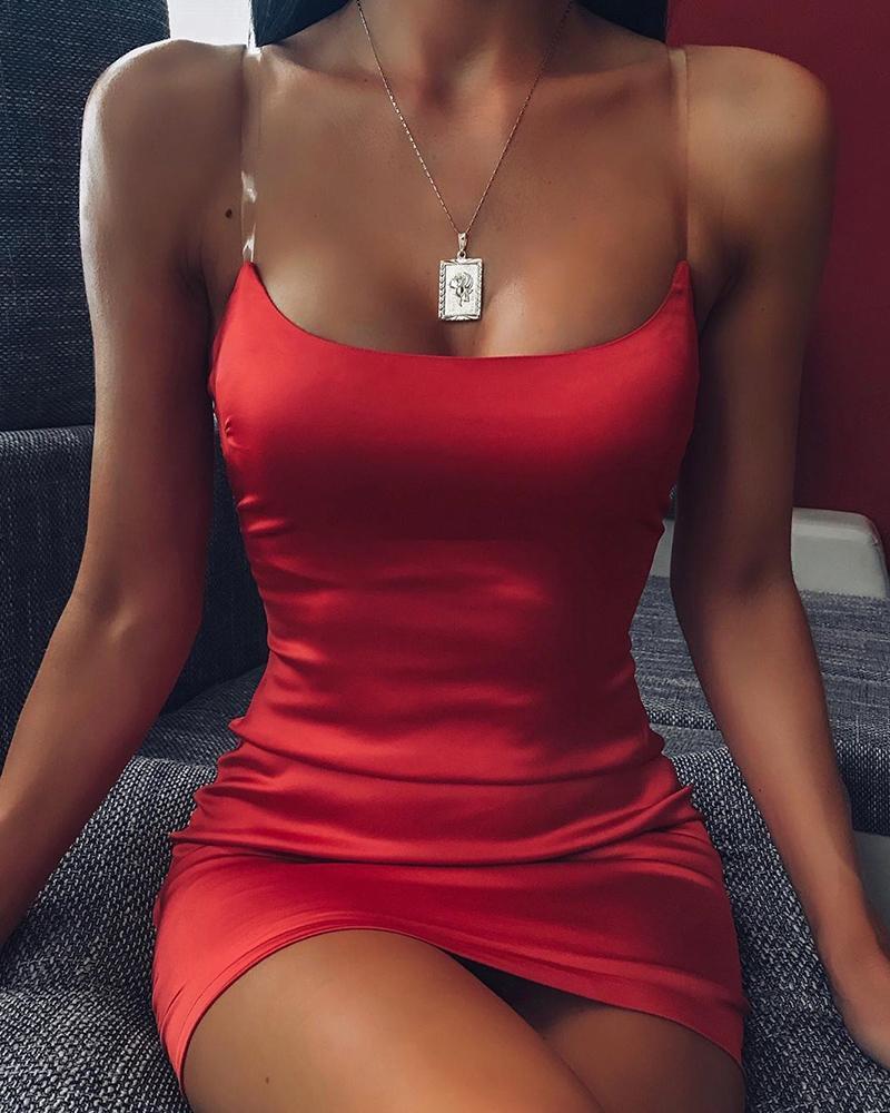 boutiquefeel / Mini vestido deslizamento sexy Bodycon