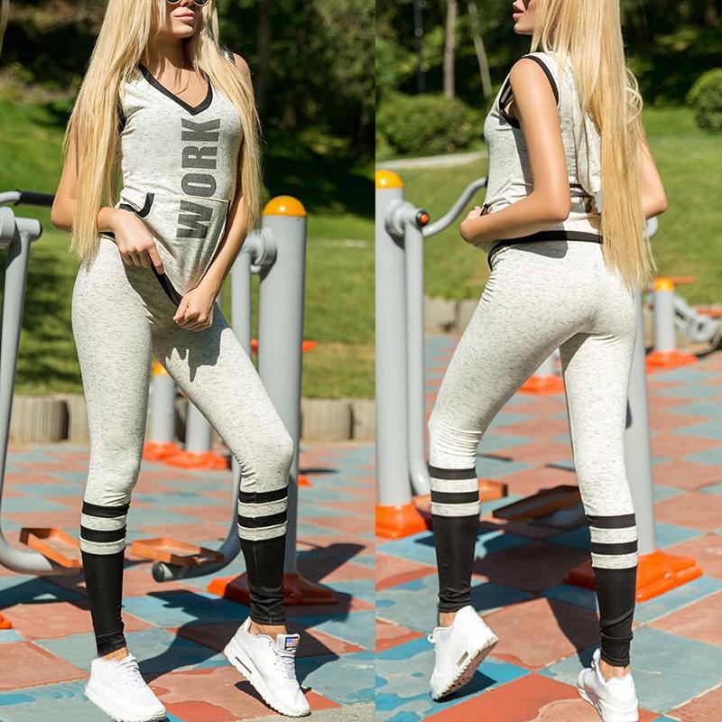 Trendy Letter Print Sports Hoodie Pantsuit