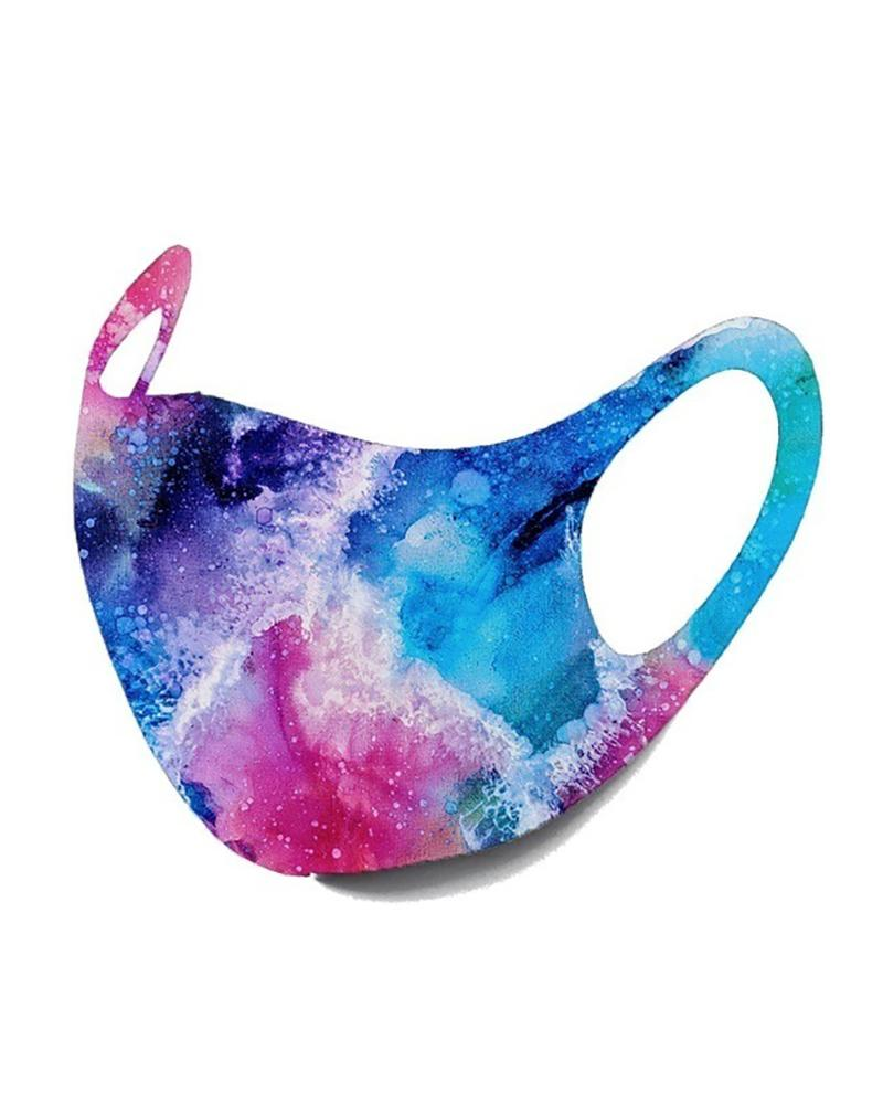 Starry Sky / Camouflage / Colorblock Breathable Face Mask фото