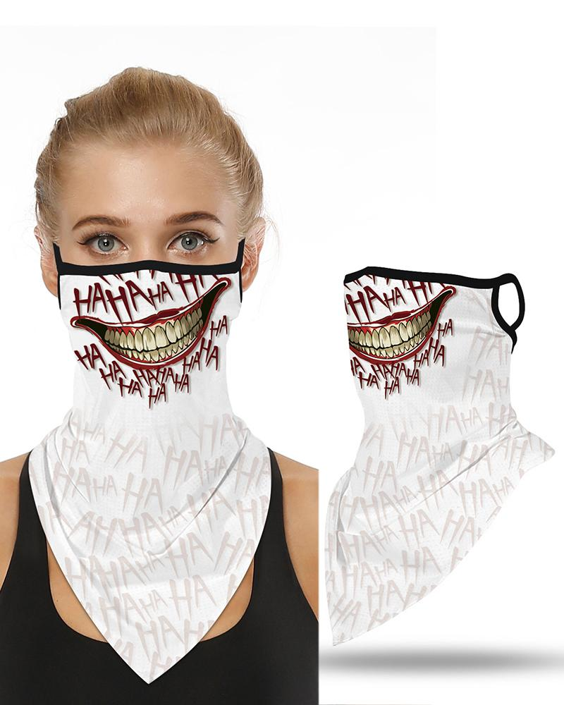 Skull Print Breathable Ear Loop Face Cover Windproof Motorcycling Dust Outdoors фото