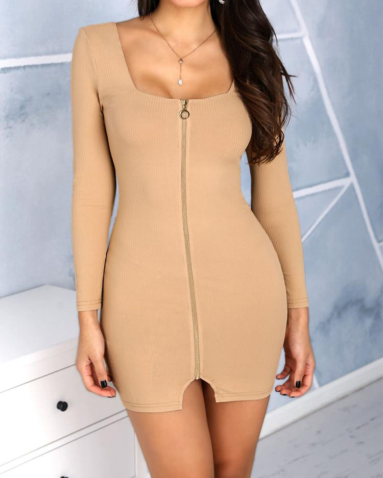 boutiquefeel / Vestido de manga larga con cremallera