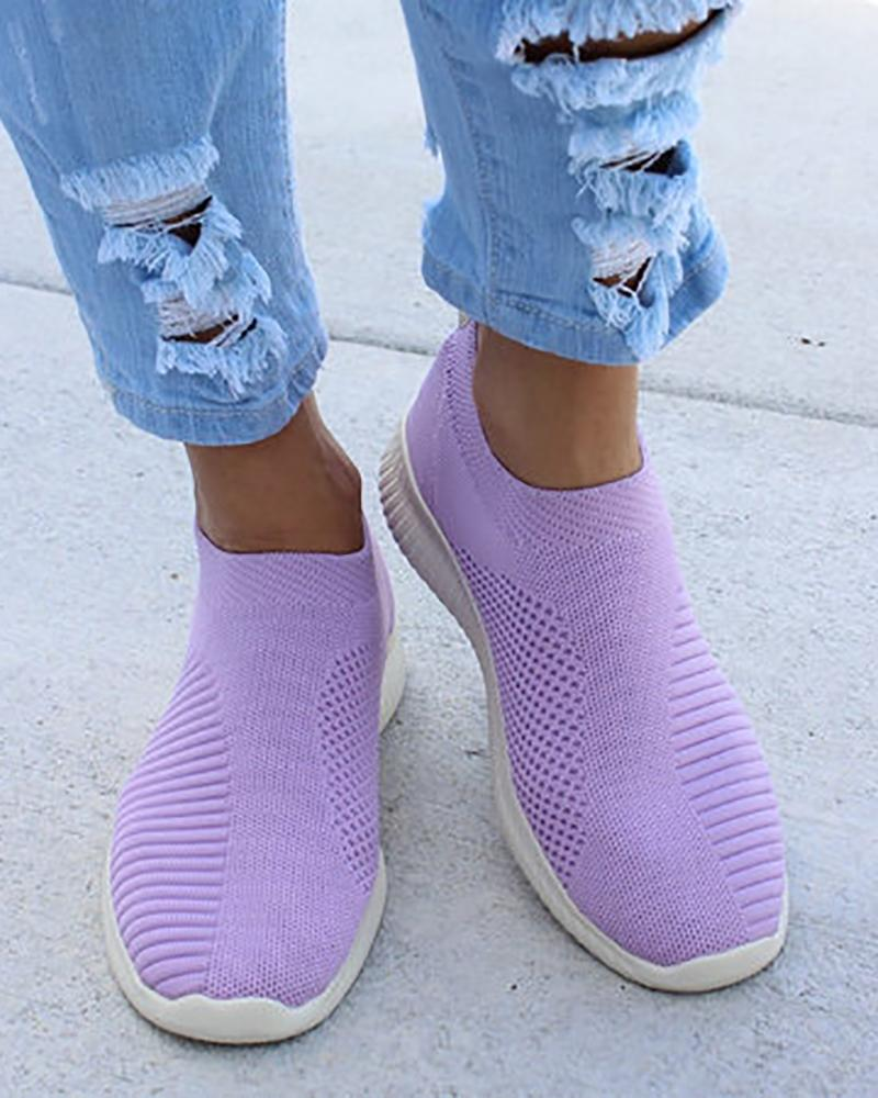 Net Surface Breathable Knitting Shoes фото