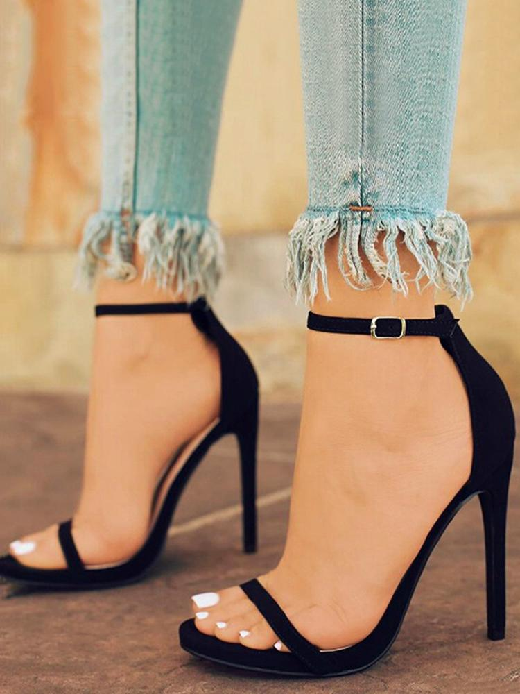 Ankle Strap Open-toe Heeled Stiletto Sandals