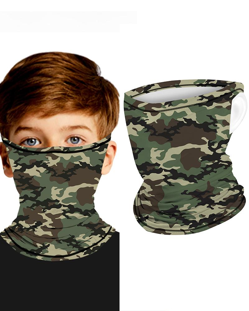Camouflage Breathable Ear Loop FaceBandana Headwrap For Children фото