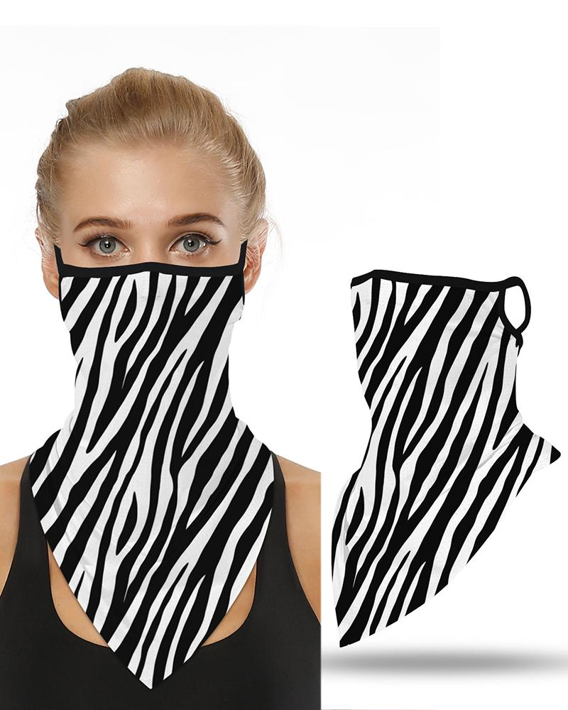 Zebra Print Breathable Ear Loop Face Cover Windproof Motorcycling Dust Outdoors фото