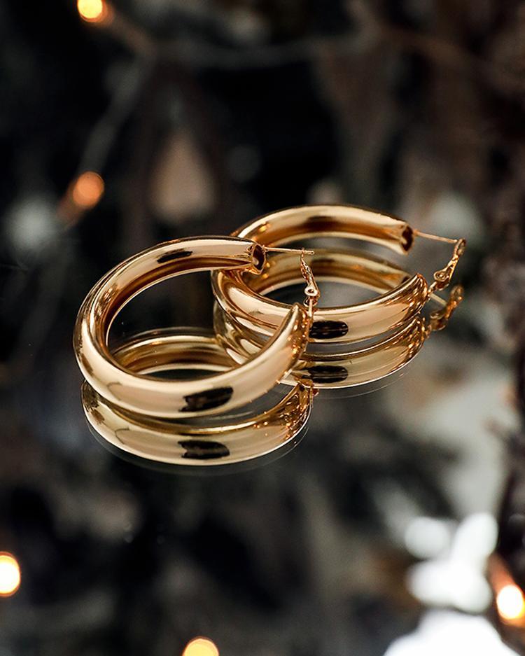 Hollow Out Geometric Hoop Earrings