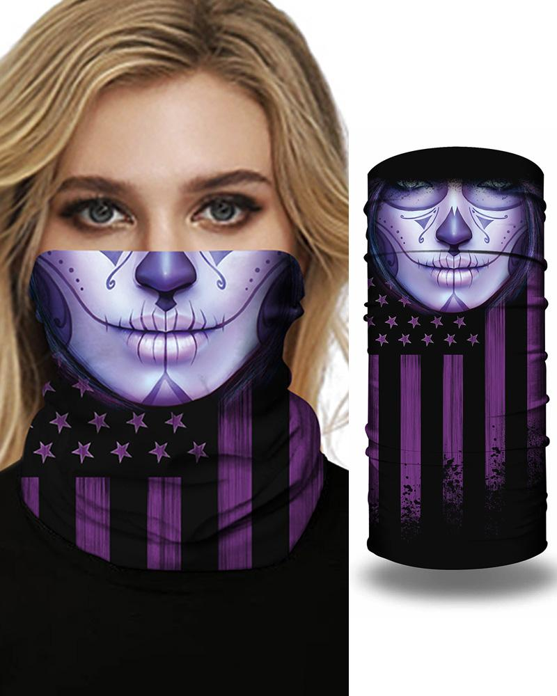Face Flag Print Breathable FaceBandana Magic Scarf Headwrap Balaclava фото