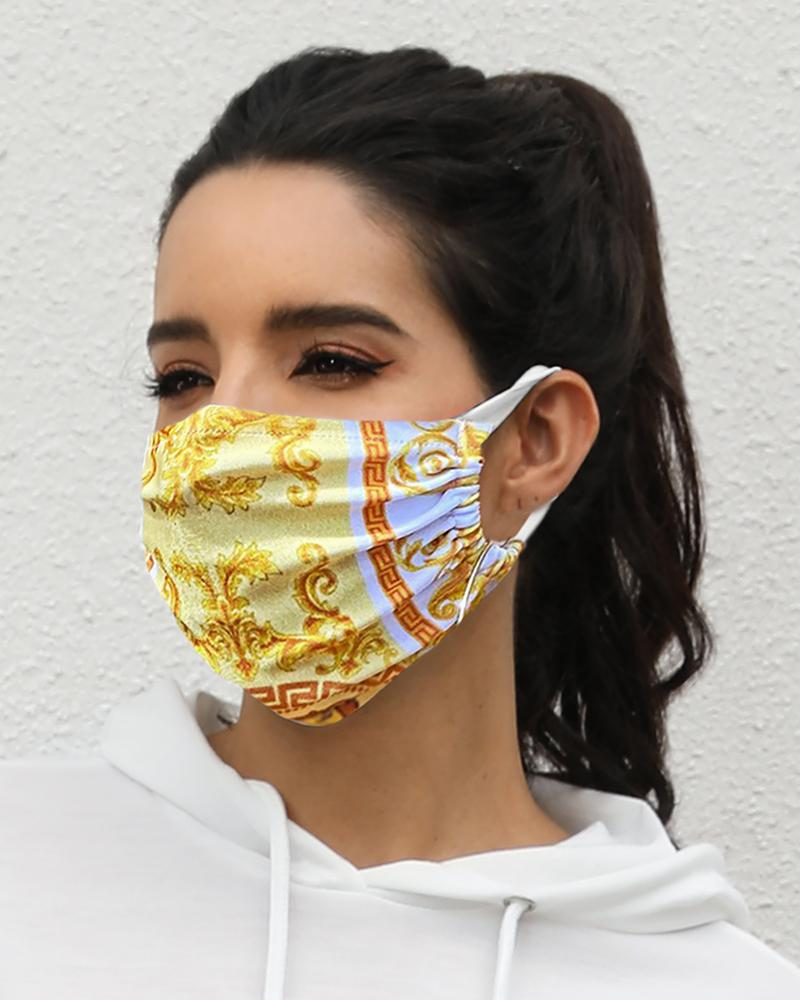 Print Breathable Mouth Mask Washable And Reusable Without Cord Lock Toggles фото