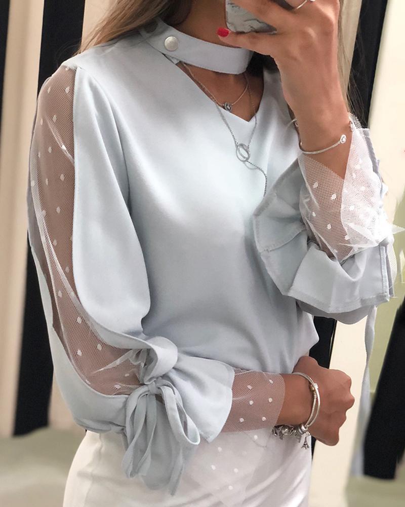 chicme / Blusa de malha com detalhe amarrado