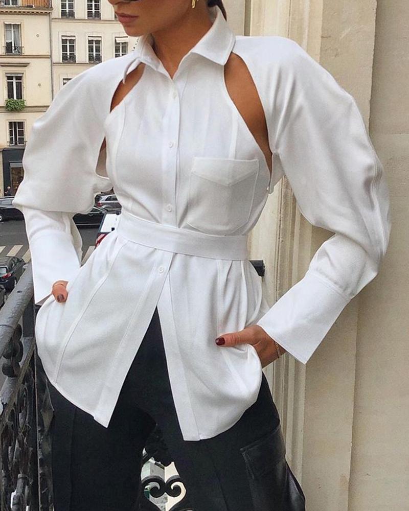 boutiquefeel / Camisa con bolsillos recortables