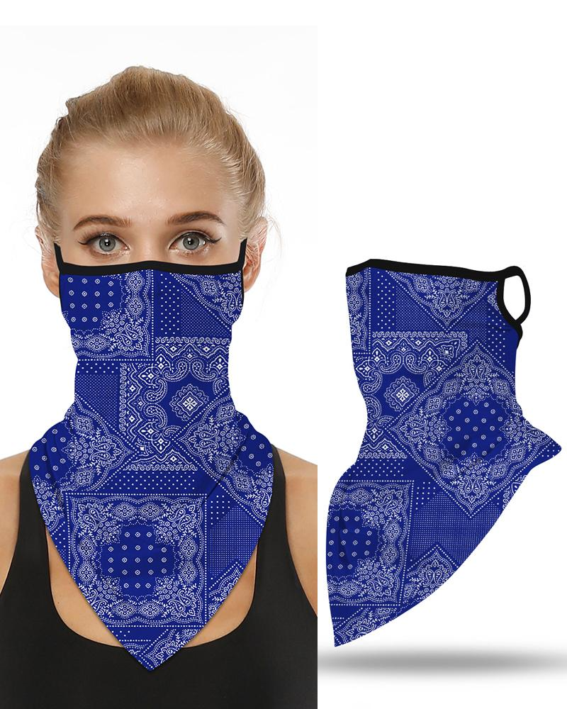 Print Breathable Face Ear Loop Cover Windproof Motorcycling Dust Outdoors Bandana фото