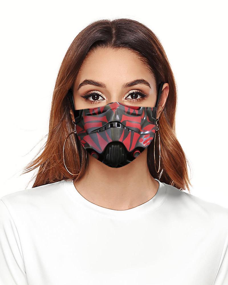 Cartoon Print Colorblock Breathable Face Mask фото
