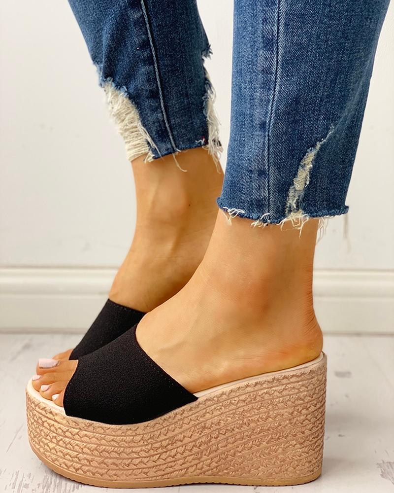Summer Platform Espadrille Wedge Sandals фото