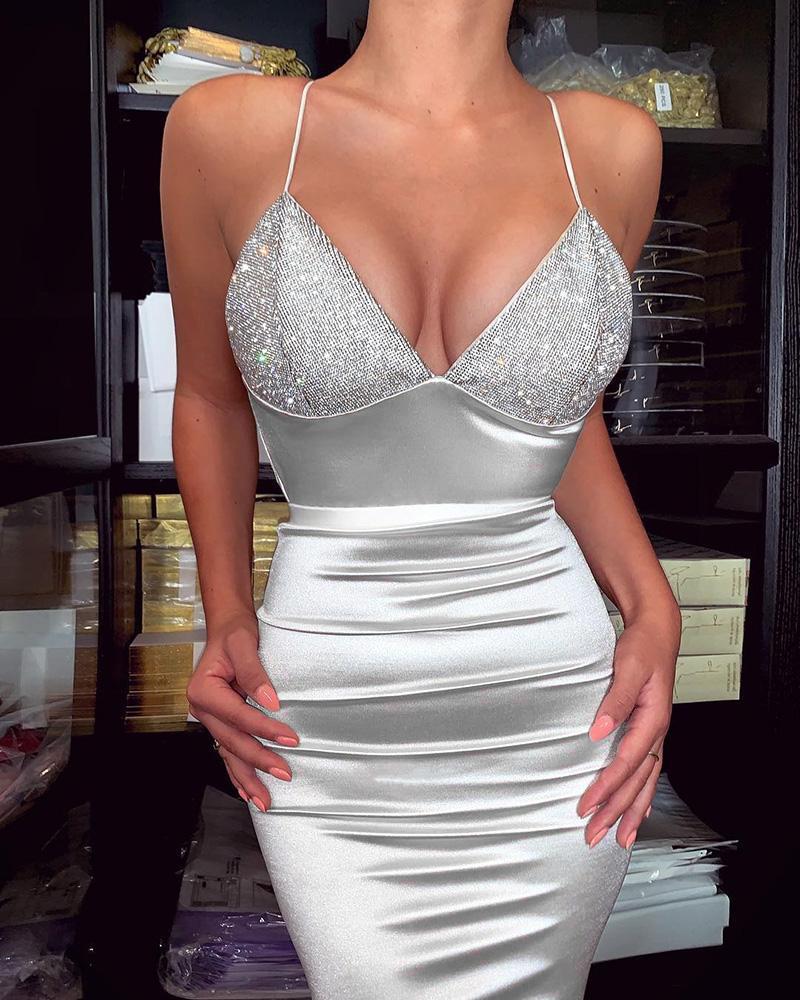 boutiquefeel / Spaghetti Strap Lantejoulas Vestido Bodycon