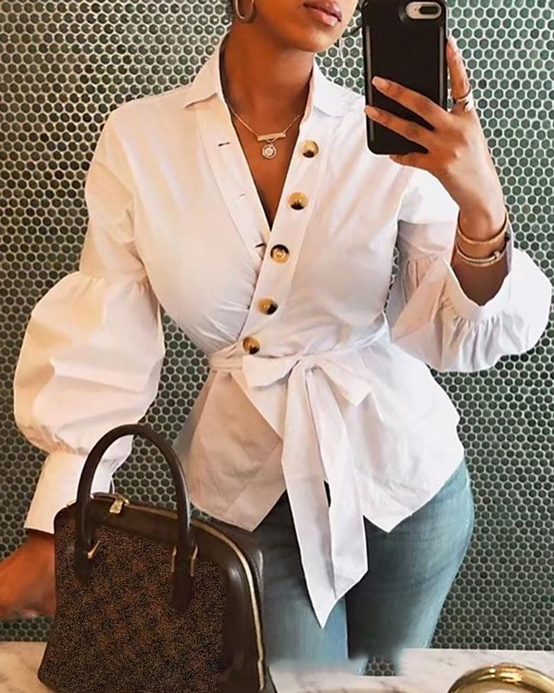 ivrose / Camisa de puño con linterna envuelta en sobrepelliz