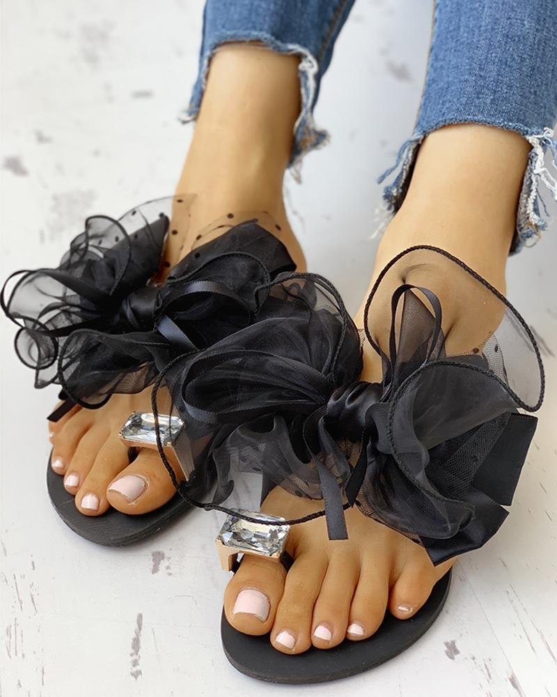 Women's Cute Bowtie Decorate Non-Slip Sandals фото