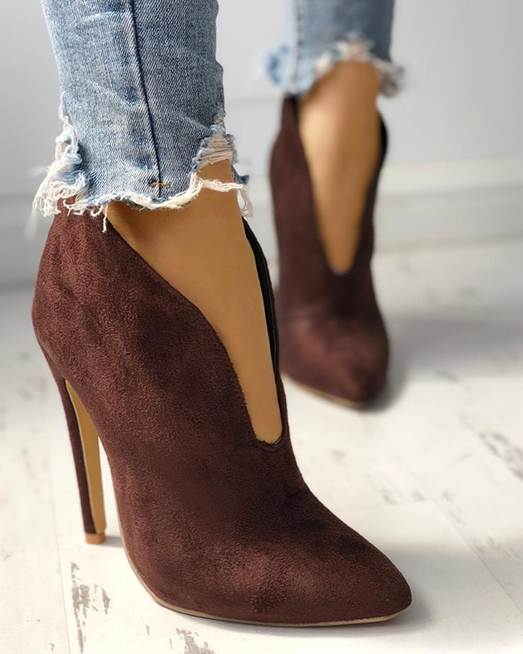 Pointed Toe Stiletto Ankle Boots фото