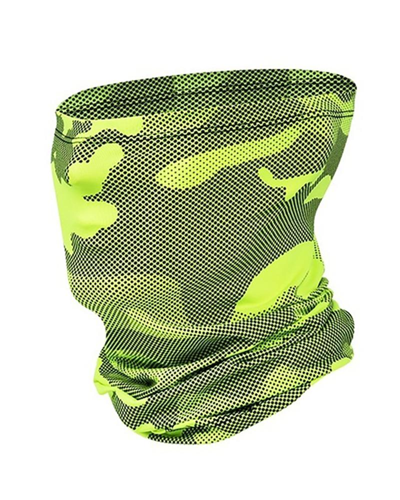 Camouflage Print Breathable Face Bandana Headwrap фото