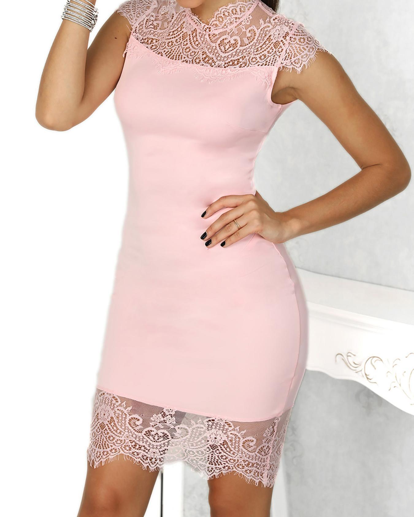 Eyelash Lace Splicing Dress фото