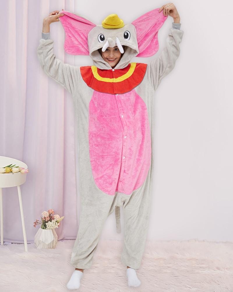 Animal Pattern Button Front Onesie Pajamas