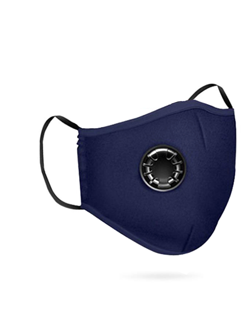 Cotton Reusable Washable Face Mask With Valve (2 fillters as gift) фото