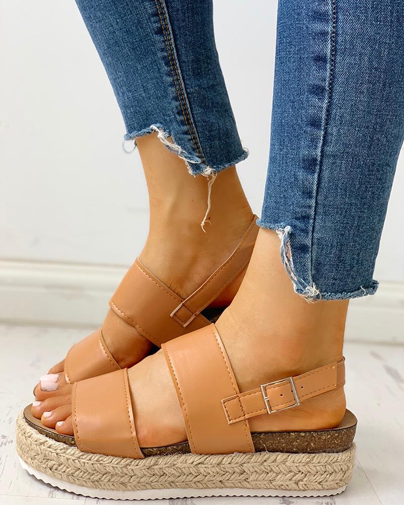 Peep Toe Espadrille Platform Sandals фото