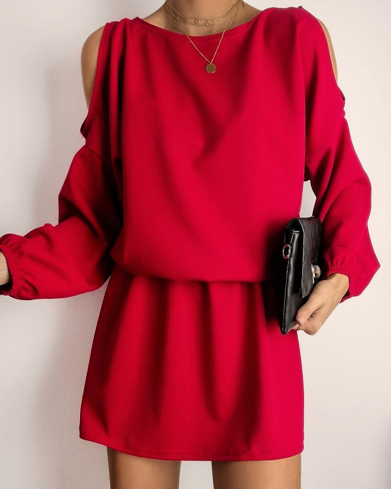 Cold Shoulder Casual Dress фото