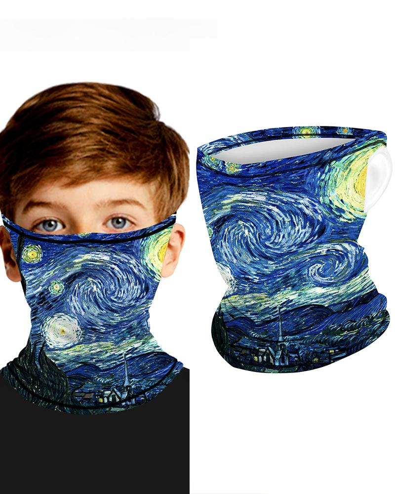 Print Breathable Ear Loop FaceBandana Headwrap For Children фото