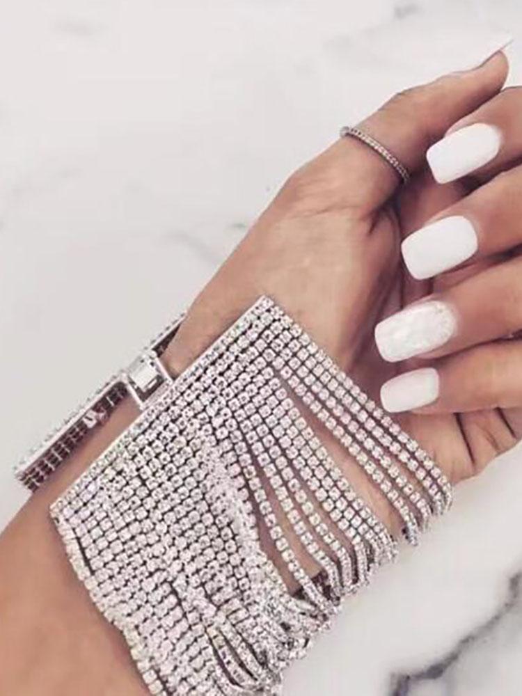 Glittering Shiny Layered Patchwork Bracelet