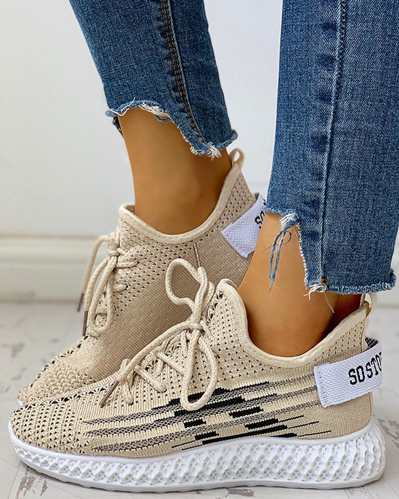 ivrose / Zapatillas Yeezy con cordones, transpirables y de punto