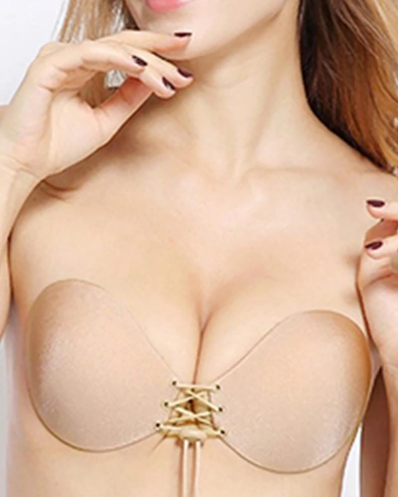 Invisible Bra Push Up Seamless Self-Adhesive Sticky Front Strapless фото