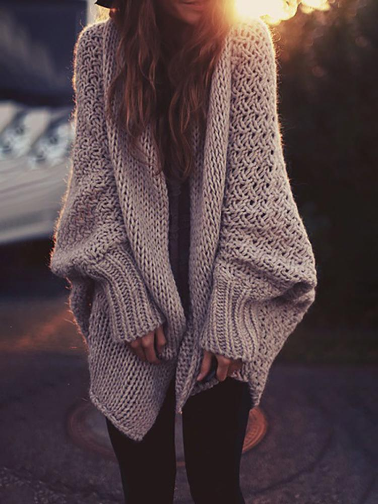 Autumn Knitted Loose Sweater Cardigans
