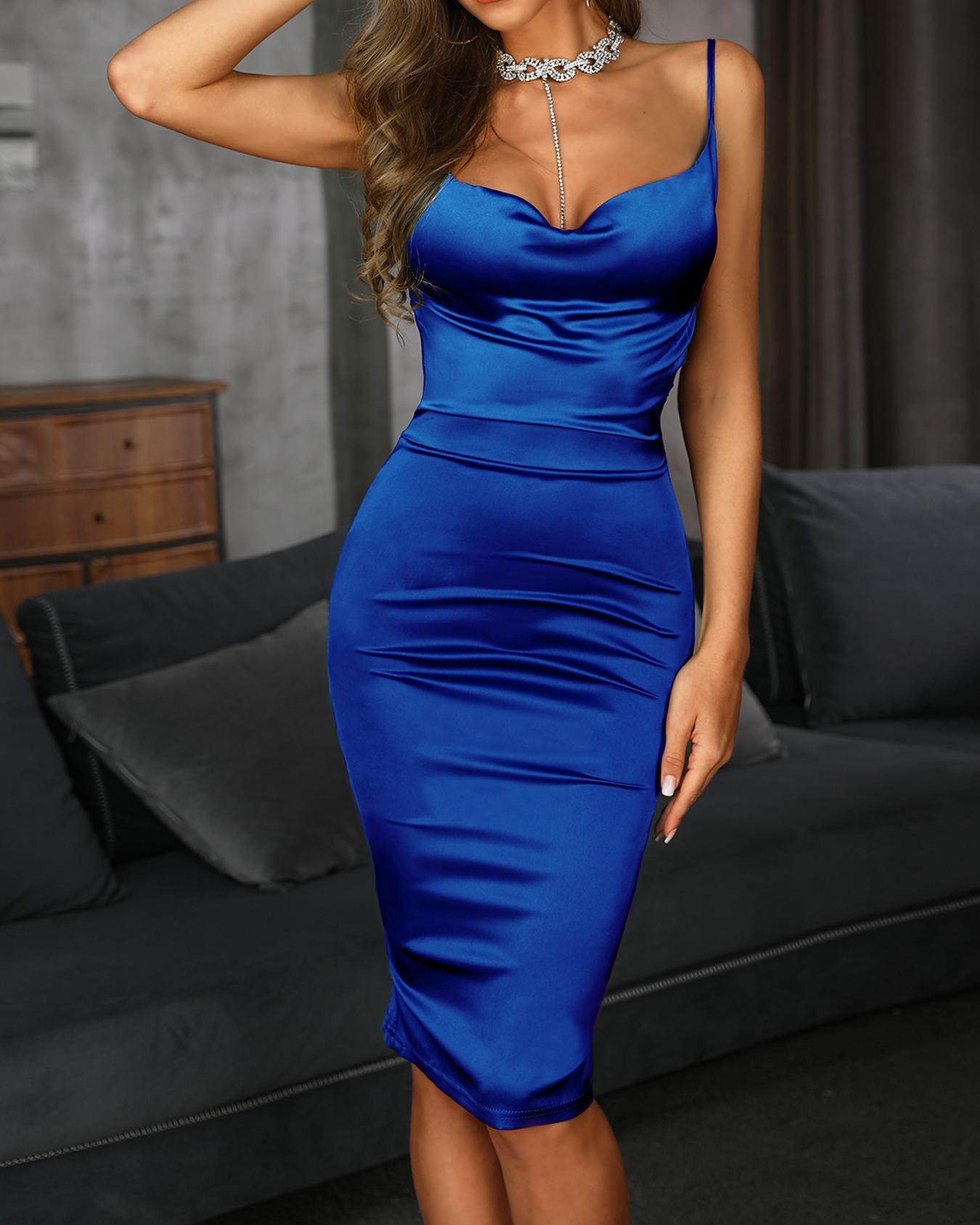 ivrose / Vestido Drape Neck Bodycon Cami