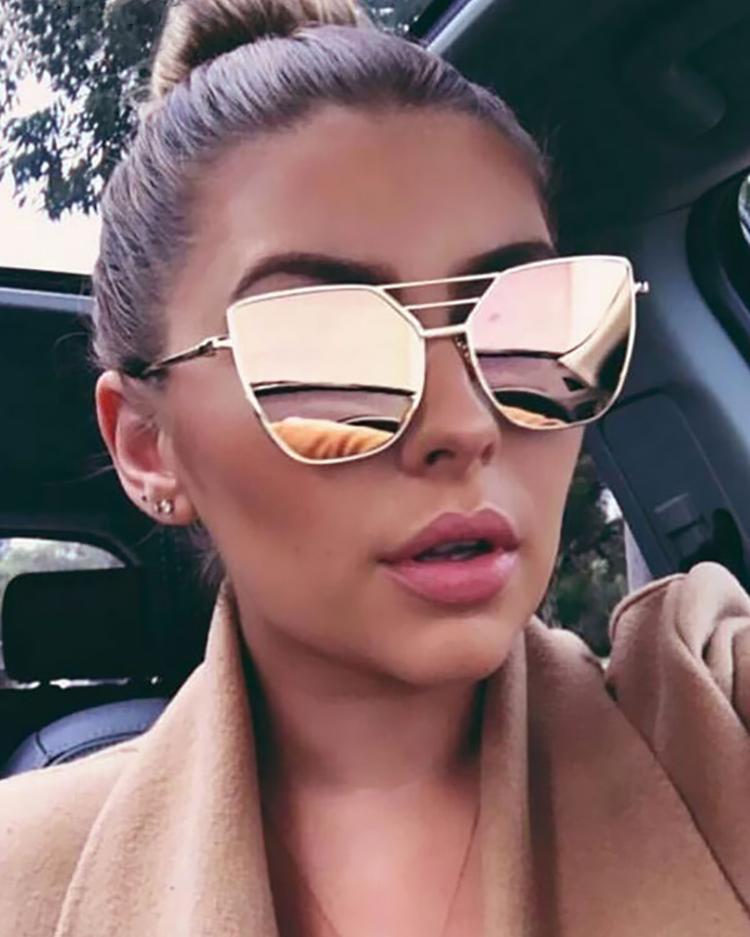 Metal Frame Irregular Sunglasses фото